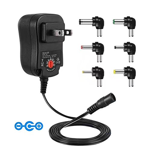 Senkoovi 30W US Plug AC/DC Adapter 3V-12V Multi Voltage Charger Kit Power Supplier with USB Port for Phone, Tablets and other Electronics by Senkoovi