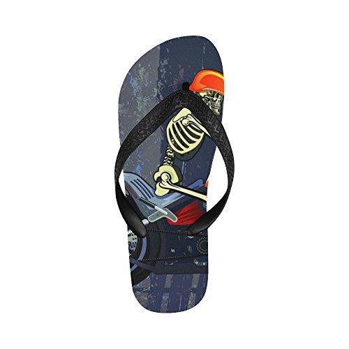 D-verhaalskelet Op Motorwipschakelaars Strand Sandals Voor Man / Women