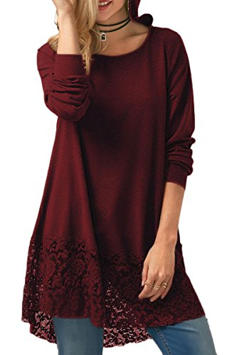 Hooded Long Sleeve Lace - 4