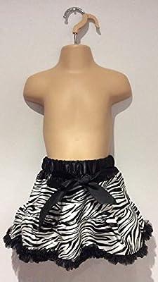 Falda con estampado de cebra Brown & black Talla:0-3m: Amazon.es: Bebé