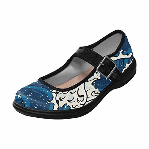 Interestprint Womens Comfort Mary Jane Flats Casual Walking Shoes Multi 14