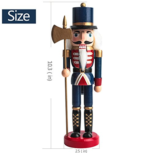 Jusdreen 10.3'' Christmas Nutcracker Ornaments Christmas Day Decoration Xmas Puppet Soldiers - Wooden by Jusdreen (Image #2)
