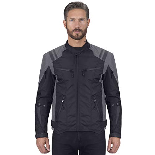 (Viking Cycle Ironborn Motorcycle Textile Jacket For Men)