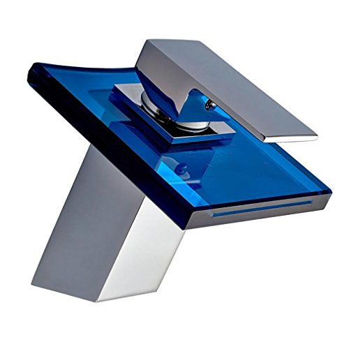 Fen Bathroom Taps,Glass Waterfall Faucet,Creative Hot And Cold Washbasin Square Basin Mixer,Luxury Hotel Tap by Fen