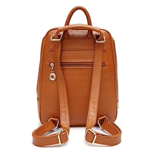 Vault Backpack Yiji Women's Tassel Outdoor Brown Decorative Foldable AWwgwUxqF