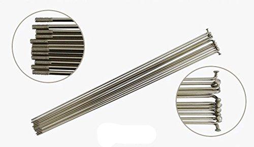 10pcs Silver 2mm Spokes Mountain Bike Spokes W/nipples MTB 14g