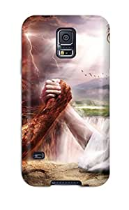 Tpu Case For Galaxy S5 With Jesus Vs Devil