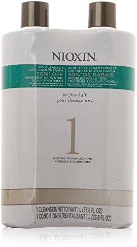 System 1 Cleanser & Scalp Therapy Conditioner Duo by Nioxin for Unisex - 33.8 oz Shampoo & Conditioner
