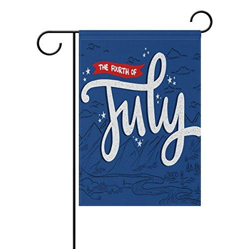 "LEISISI 4Th JULY Garden flag 12""X18"" Two Sided Yard Decorati"