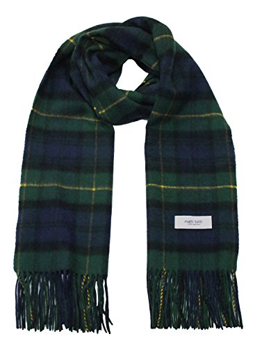 Green X Navy 100% Cashmere Plaid Shawl Stole Men's 2017 Gift Scarves Wrap Blanket B0824B2-8 by matti totti (Image #7)