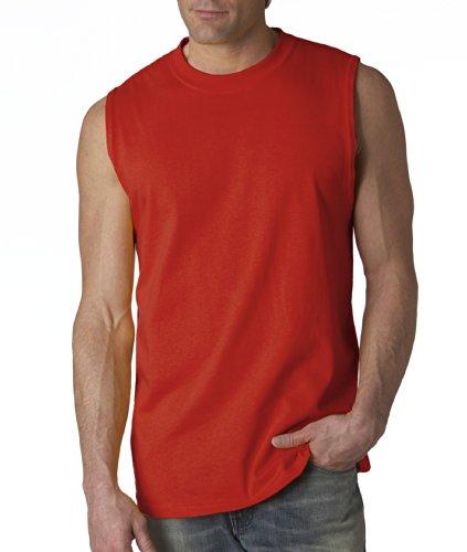 Gildan mens Ultra Cotton 6 oz. Tank(G220)-RED-2XL
