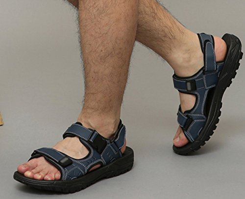 da dimensioni all'aria WFL da grandi scarpe Blu aperta scarpe estate in di Sandali spiaggia tendenza pelle uomo sportivo studente pantofole casual TTOYq