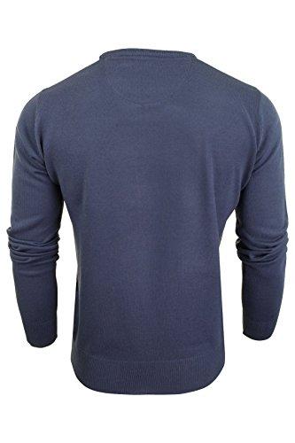 nbsp;uomo nbsp;– nbsp;– Bleu nbsp;– nbsp;maglione nbsp;jumper nbsp;– A V nbsp;collo Neck crew Royal Xact zS8qwz