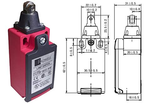 - RADWELL VERIFIED SUBSTITUTE AZD1002SUB Replacement of MATSUSHITA Electric AZD1002, Limit Switch - Roller Plunger, 1NO/1NC, SNAP Action, 1/2NPT