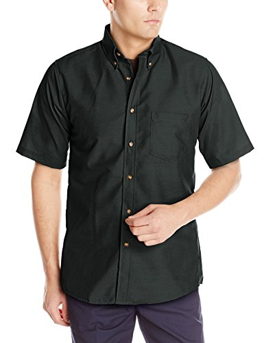 Ss Black Wood - Red Kap Men's RK Poplin Dress Shirt, Black, SS L