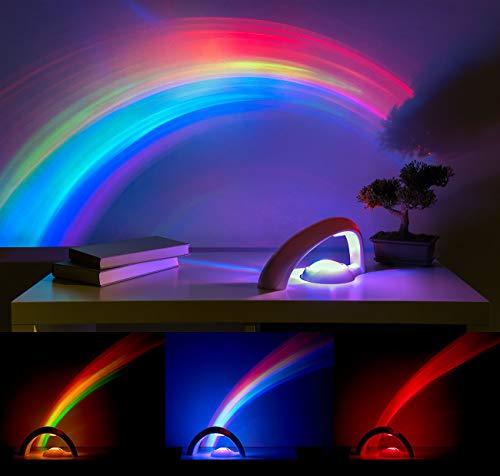 Playtastic - Lámpara de proyección LED con forma de arco iris para ...