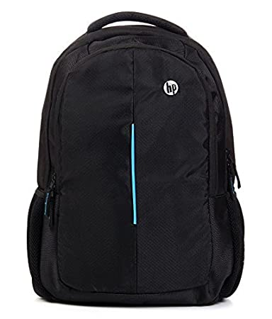 SPYS PRODUCTS Polyester Backpack for HP 15 inch Laptop  Black and Blue  Laptop Backpacks