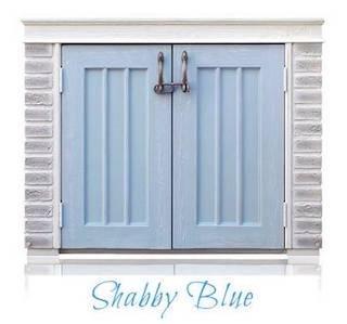 おしゃれ物置 ディーズシェッド カンナミニ フレンチシック ディーズガーデンの小型物置 (シャビーブルー) B07CM5S5SM ブルー