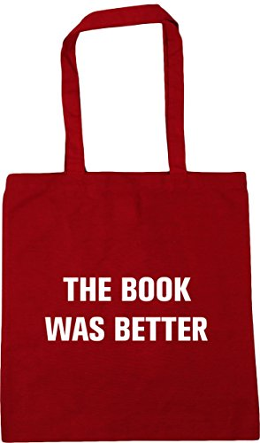 Classic Tote litres Bag Gym book was better Red Shopping 10 42cm x38cm The HippoWarehouse Beach wqO1ff