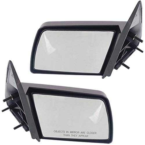 Manual Mirror compatible with Chevy C/K Full Size Pickup 88-02 Right and Left Side Manual Folding Non-Heated Sport Type Paintable