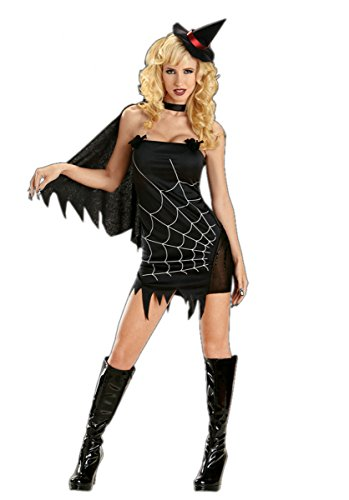 Funky Fairy Witch Costume (Sexy Dark Witch Halloween Costume by Escante - l)