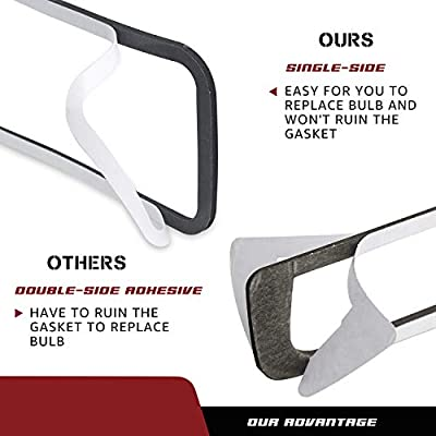 RUXIFEY Single-Sided Adhesive 3rd Third Brake Light Gasket Seal Compatible with 2004 to 2008 Ford F150, 2007 to 2010 Explorer Sport Trac Hight Mount Stop Lamp, 2nd Gen: Automotive