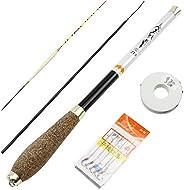 ZYHYF Ultra-Short Carp Fishing Rod, Pocket Fishing Rod for Children Beginners, Carbon Rod Portable Folding Spi