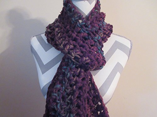 Handmade Crocheted Mulberry Bush Warm Chunky Long Scarf Shawl Scarf by Ladies Fashion Design One Size Fits All Handmade Gift for Her Gift Bag and Ribbon ()