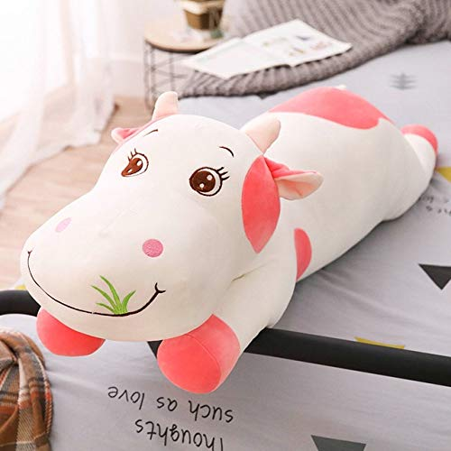 EXTOY 140Cm Large Size Cute Cows Stuffed with Plush Toy Fabrics are Comfortable and Soft for Children As A Birthday Present Must-Have Kids Girl Gifts Girl S Favourite Superhero Cupcake Toppers by EXTOY