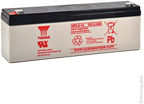 Yuasa - Batería Plomo AGM NP2.3-12 12V 2.3Ah F4.8: Amazon.es: Electrónica