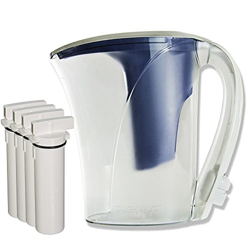 Clear2o CWS100 Water Filter Pitcher System Designed with Quick Connect Technology (4 Filters Included) (Pitcher Water Clear2o)
