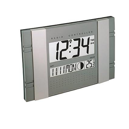 Technoline Ws 8001 - Reloj de Pared, color azul Y Plata