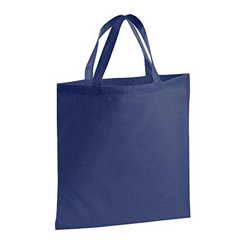 Jassz Bolsa de cortas Negro con Bags tela asas shopper r7rqZxzwH