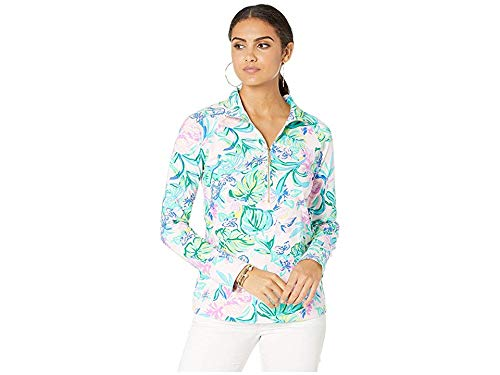 Lilly Pulitzer Women's UPF 50+ Skipper Popover, Amethyst Tint Mermaid in The Shade, XXS from Lilly Pulitzer