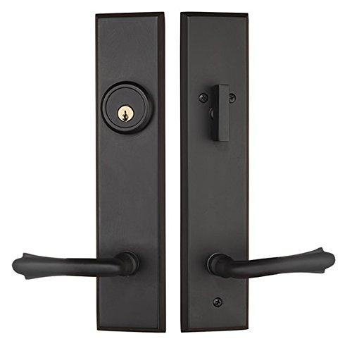 Rockwell Verano Entry Door Lock Handle Set with Bourne Lever in Antique Black Finish, Durable Commercial & Residential, Door Hardware, Door Handles, Locks
