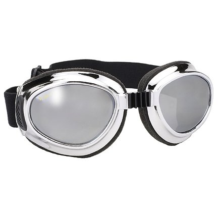 Airfoil Chrome Goggles with Silver Mirror Lens UV 400 Protection - One Size (Coast Cruise Jacket)