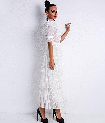 Missord Damen Cocktail Kleid Weiß r89XZQaJ - nixon.tim-schaller.de