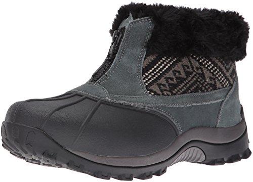 Propet Women's Blizzard Ankle Zip Ii Winter Boot, Black/Aztec Knit, 6 2E US