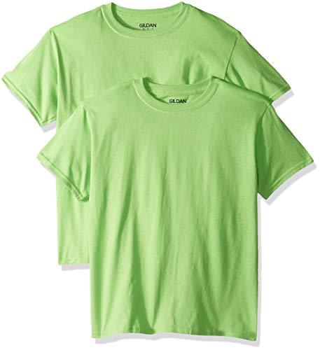 Boys Lime Green - Gildan Kids' Big Heavy Cotton Youth T-Shirt, 2-Pack, Lime, X-Small
