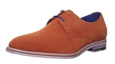 Justin Reece Marvel, Chaussures de ville à lacets pour homme - Orange - Orange,