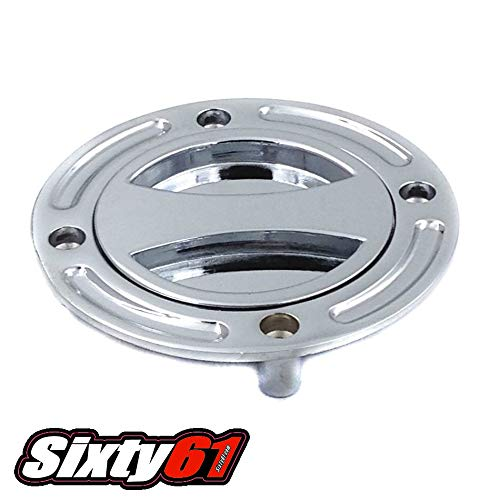 Sixty61 Chrome Gas Cap for Hayabusa 1999-2007 Suzuki Fuel Tank Keyless