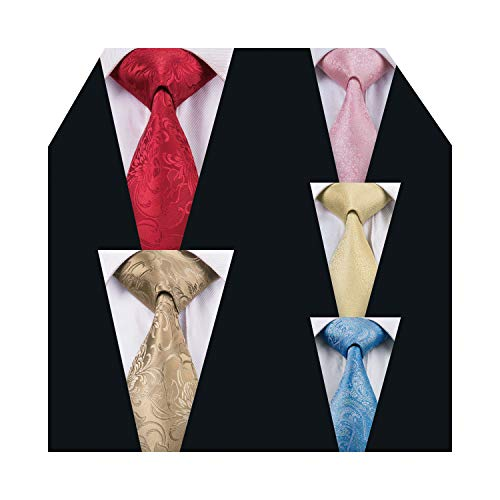solid ties flower neck tie set yellow/red/pink/blue neckties for ()