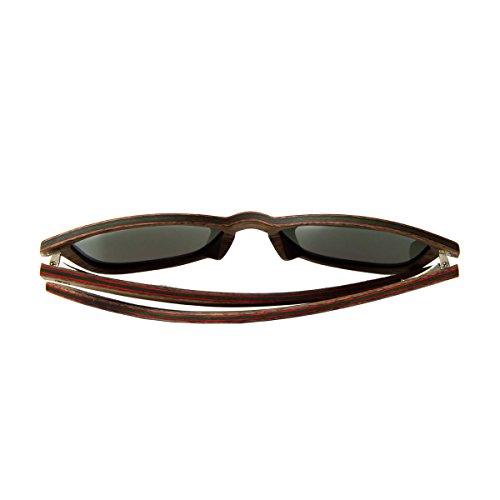 Gris y UV400 de mujer estilo madera WOLA sol madera AERO gafas cuadradas polarisado en Nogal hombre sunglasses qantzOw
