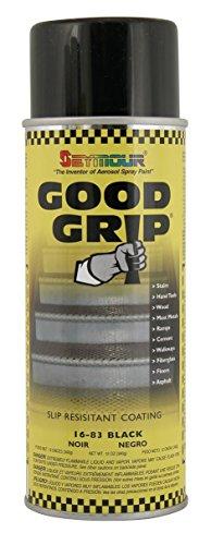 Non Slip Coating - Seymour 16-083 Good Grip Slip Resistant Coating Spray, Black