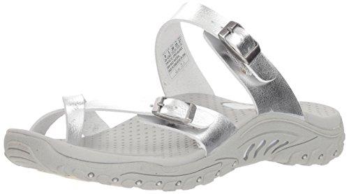 fd00df96610f Skechers Women s Reggae-Wishlist-Double Buckle Toe Thong Slide Sandal