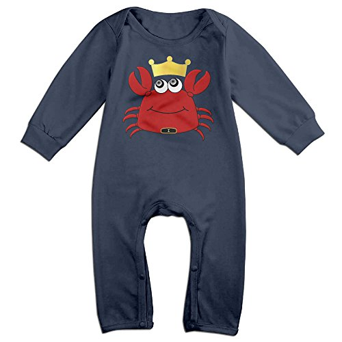 [VanillaBubble Crab King For 6-24 Months Infant New Design T Shirt Navy Size 24 Months] (Trap King Costume)