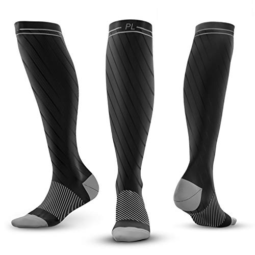PowerLix Compression Socks for Men & Women – 20-30 mmHg Medical Stockings Support Circulation, Recovery – Best Graduated Athletic Socks for Nursing, Pregnancy, Shin Splints, Varicose Veins, Running by PowerLix