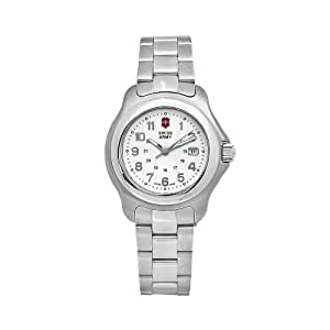 Victorinox Swiss Army Women's 24705 Officer's 1884 Stainless Steel Silver Dual Time Dial Watch