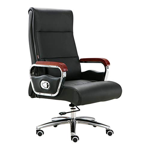 Black Leather boss Chair Home Computer Chair Reclining, used for sale  Delivered anywhere in Canada
