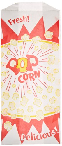 1 oz. Popcorn Bag, Burst Design, 1000 per Case -